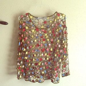 Debbie Shuchat Crochet Top (Large)